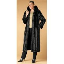 Black Mink Hooded Coat